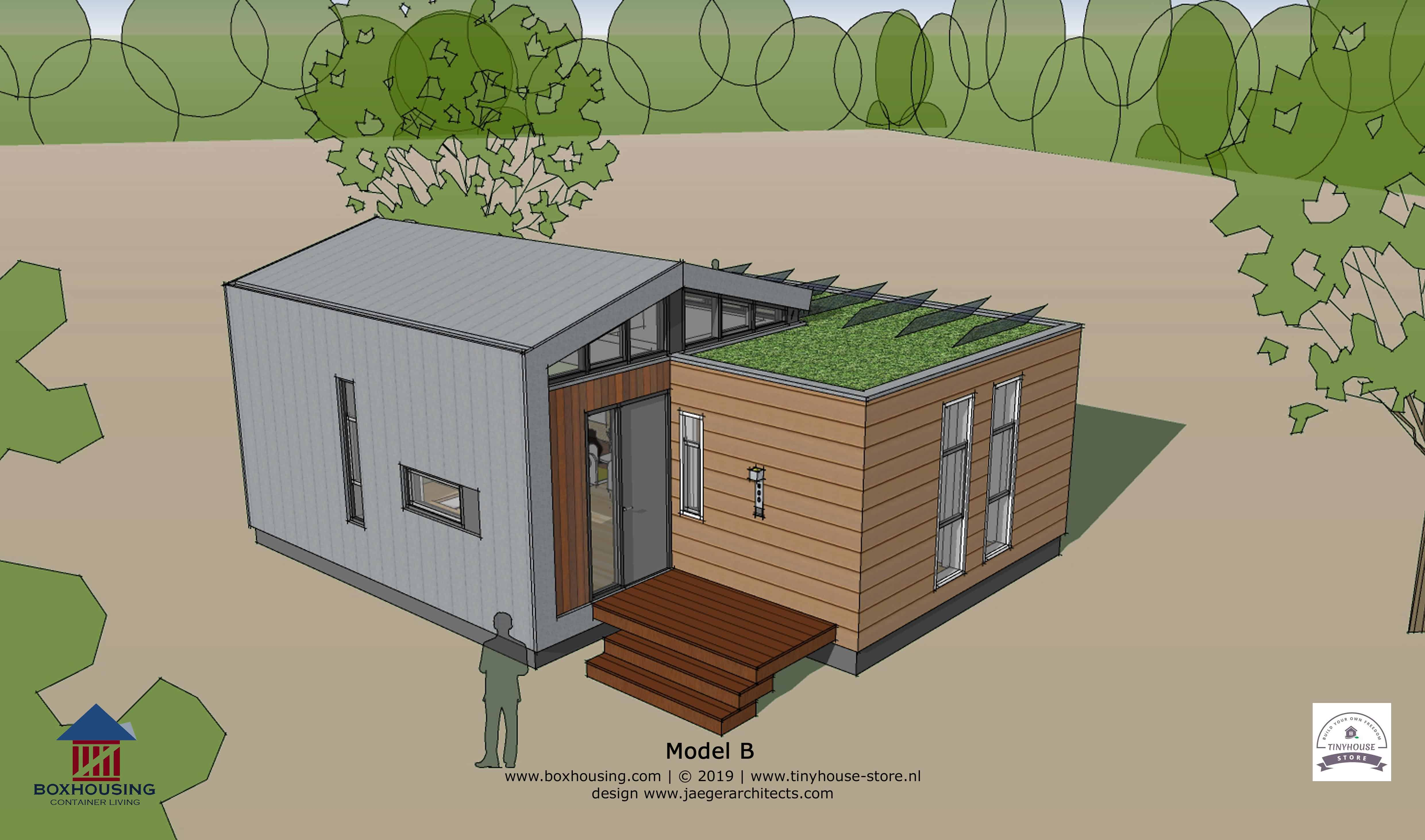 Super Containerwoning Tiny Villa (45m2) | Tinyhouse-store.nl NO-49